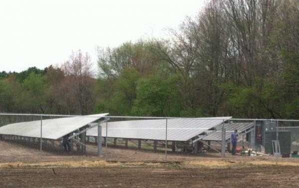 A solar garden in Harvard, Mass.