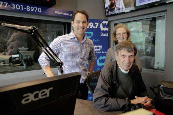 Jared, Margery and Leonard Nimoy in Studio Three.