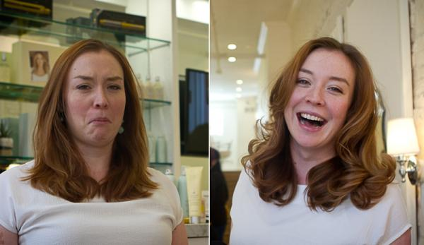 At Drybar on Clarendon Street in Boston, the salon offers only one thing: blowouts — as seen on WGBH News reporter Cristina Quinn, before and after.
