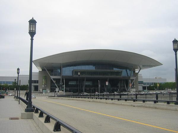 The Boston Convention Center in the Seaport. David Bernstein and Joan Vennochi discussed whether the process to expand the convention center has been too opaque.