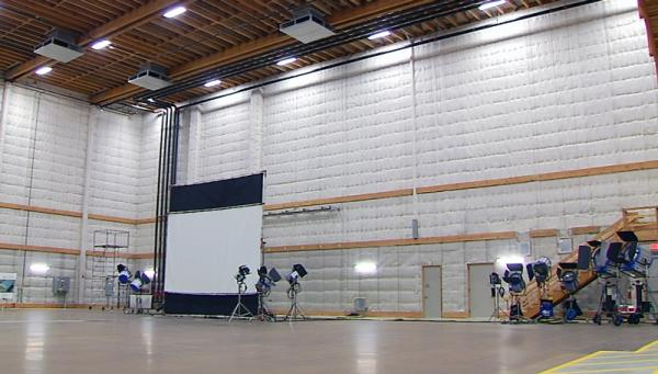 A sound stage at New England Studios.