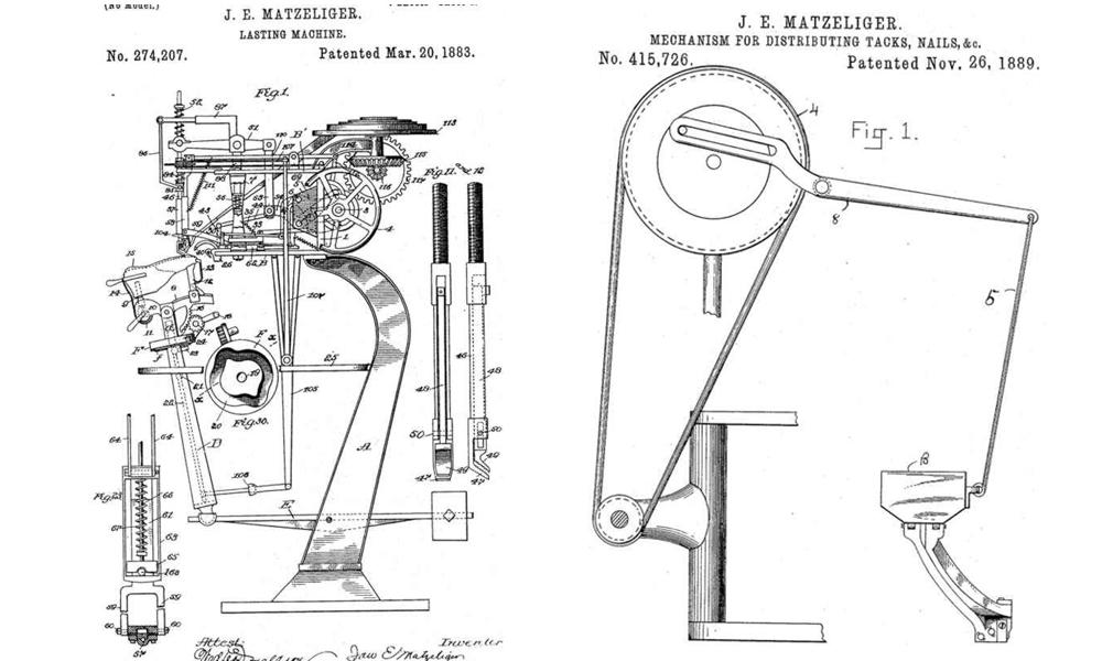 shoe making machine invention
