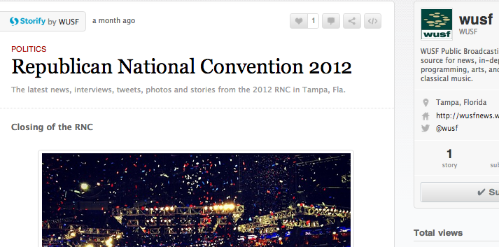 Screen capture from a Storify blog post from WUSF's coverage of the RNC.