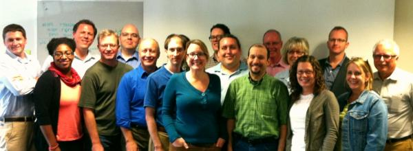 Some attendees of the September 2012 NPR Knight Leadership training.