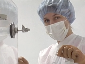 Michelle Alfonso in 'clean room.'