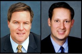 Sen. Aaron Bean, left; Sen. Joe Negron, right.