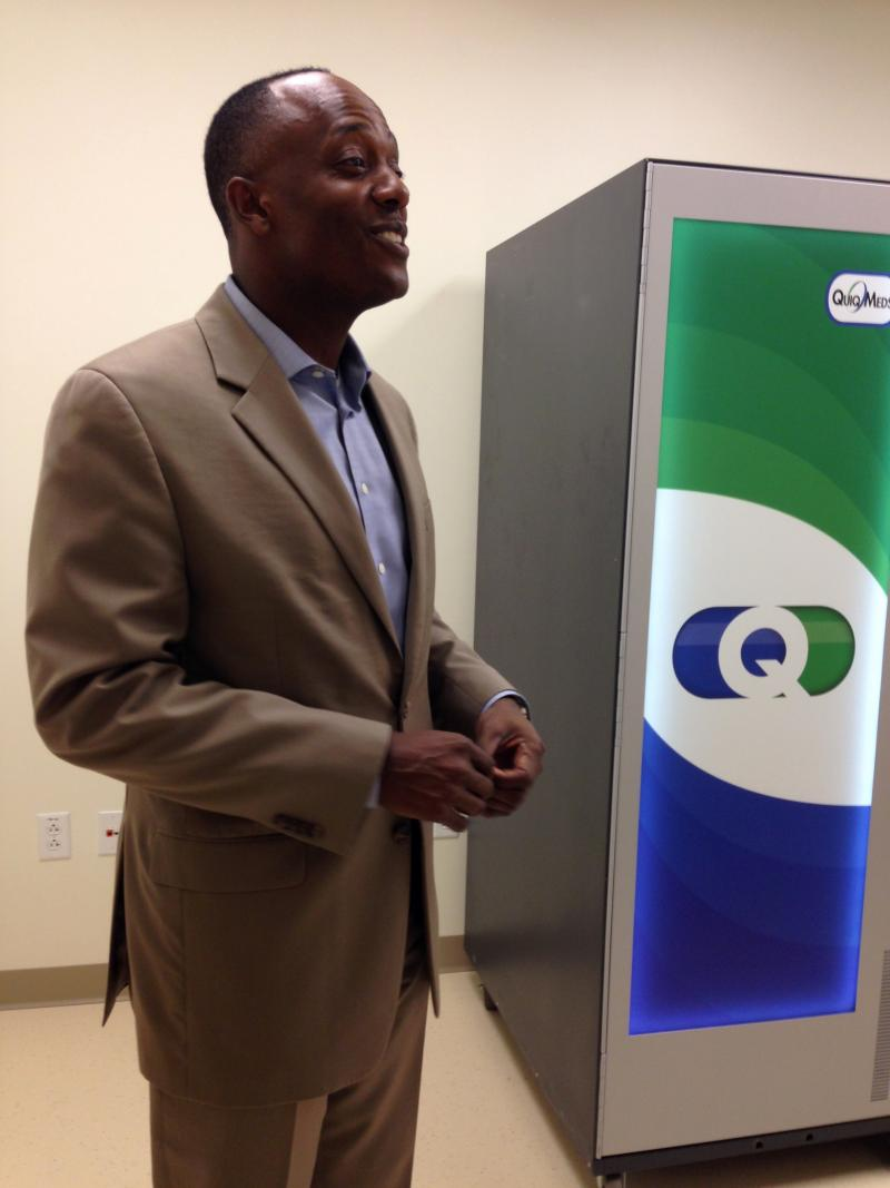 CAC-Florida Medical Centers CEO Mark Kent explains how the Quick Meds Dispense machine works.
