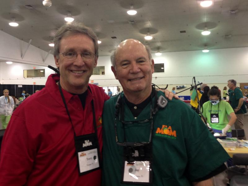 Florida Dental Association President Dr. Terry Buckenheimer and Dr. James (Jay) Walton of Tallahassee