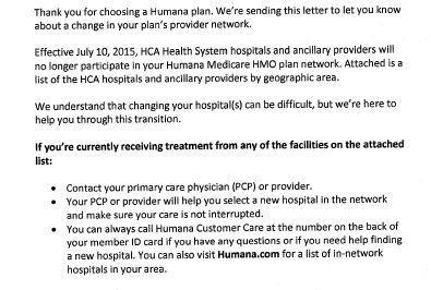 HCA Hospitals, Humana in Contract Dispute   Health News Florida
