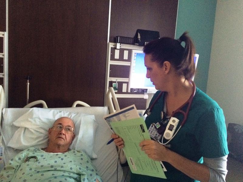Viera Hospital patient Donald Davidson with Stephanie Grove, RN