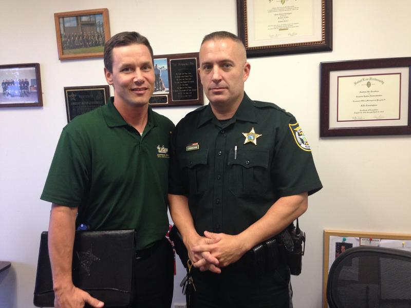 Capt. Todd Shear and Lt. Richie Cunningham with the Manatee County Sheriff