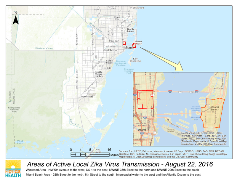 Health Officials Find Another Local Zika Case In Miami-Dade | Health on west nile virus map, powassan virus map, japanese encephalitis map, yellow fever map,