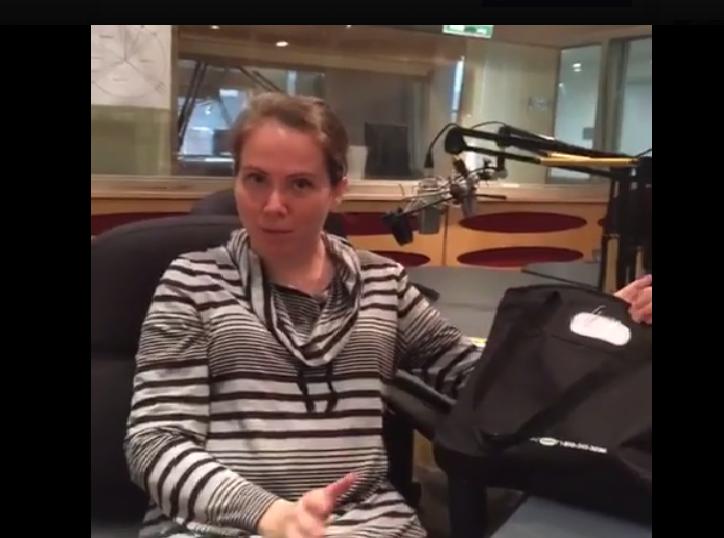 HNF reporter Sammy Mack unpacks a Zika Prevention Kit for pregnant women on Facebook Live.