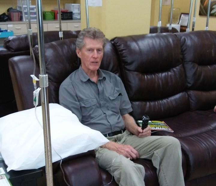 Stan Welch receives chelation treatment at Florida Integrative Medicine Center.