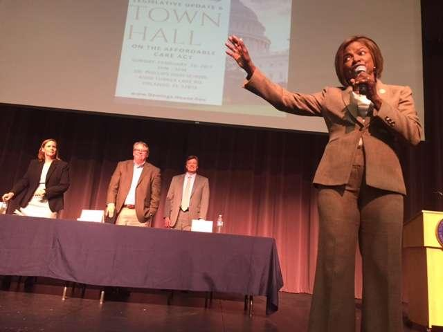Democratic Congresswoman Val Demings held a town hall in Orlando on Sunday.