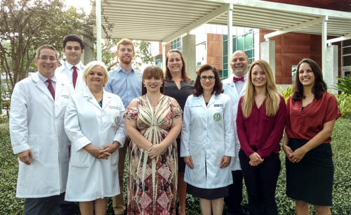 Team members at the University of South Florida's Multiple Sclerosis Center. The center hosted clinical trials of Ocrevus, the first drug available to treat primary-progressive multiple sclerosis.