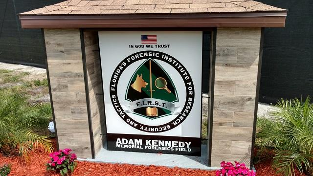 The Adam Kennedy Forensics Field, part of a forensic research facility in Pasco County, is named for the first body donated to the project. Kennedy, the principal of a Spring Hill middle school, was killed in a car accident earlier this year.