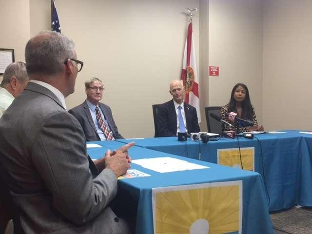 Gov. Rick Scott and Surgeon General Celeste Phillip attended a Zika preparedness roundtable in Orlando.