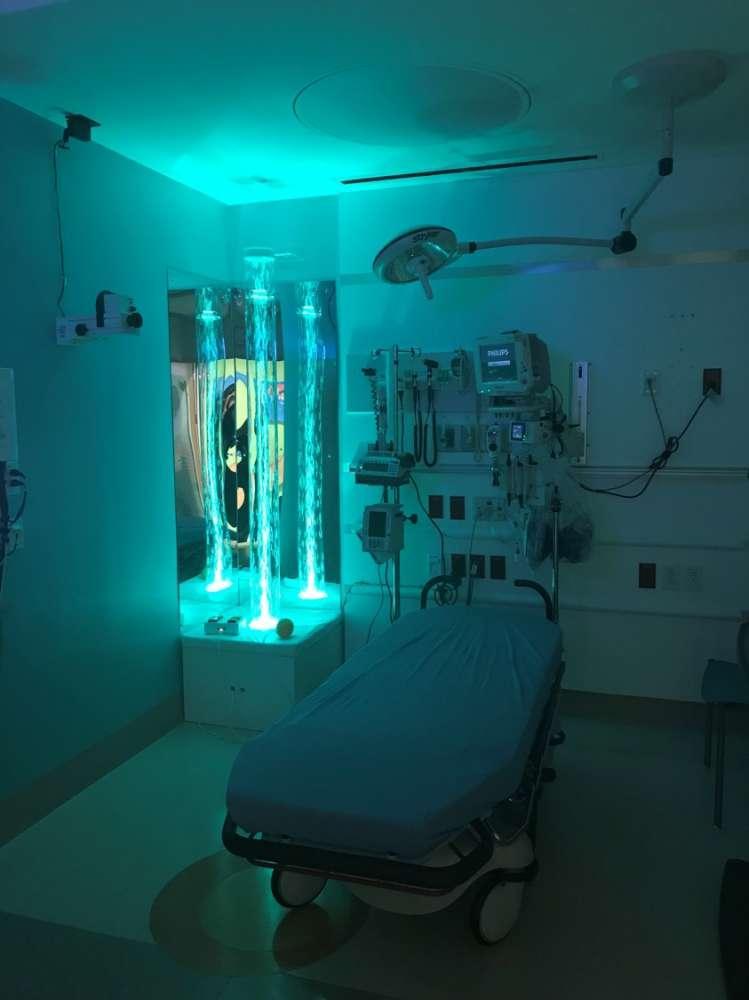 Sensory room at Nemours Children's Hospital in Orlando.