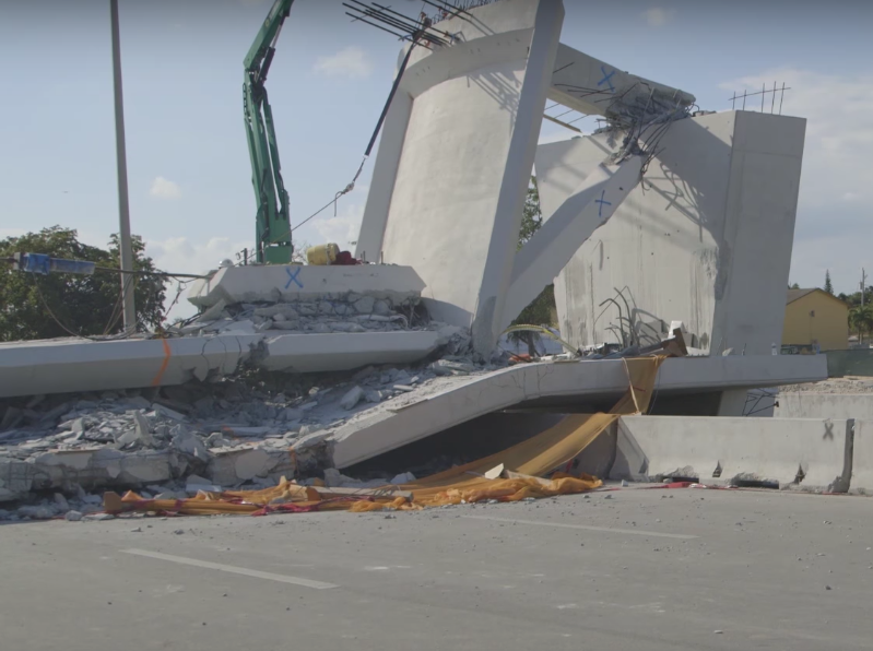 The pedestrian bridge at Florida International University that collapsed earlier this year is still under investigation.