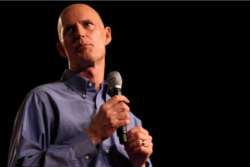 Governor Rick Scott and President Donald Trump attended an event at the Orange County Convention Center today.