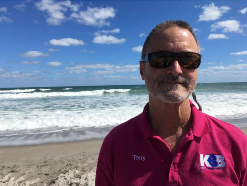 Tony Sasso of Keep Brevard Beautiful estimates volunteers have cleaned up as much as 10 tons of dead fish from county beaches.