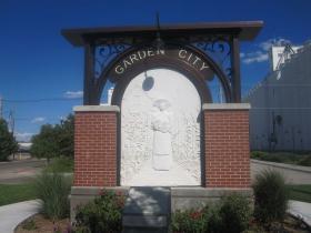 Garden City, Kansas Welcome Sign