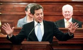 Gov. Brownback giving the State of the State speech.