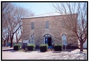 The old jail in Mobeetie, Texas