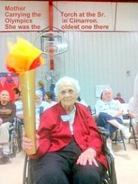 Best Wishes to Ms. Vesta Brant, our very first Listener Of The Year. She is shown here at the Senior Olympics in Cimarron, Ks carrying where she won the Olympian Medal just before turning 98.