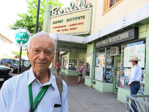 Allan Savory, known as the godfather of holistic grazing, pitched his ideas at the Boulder Theater in Boulder, Colo., recently.