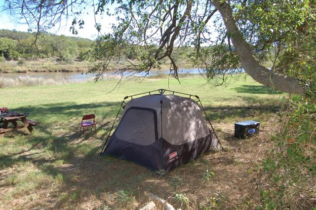 Luke's Campsite at the Dale River Ranch