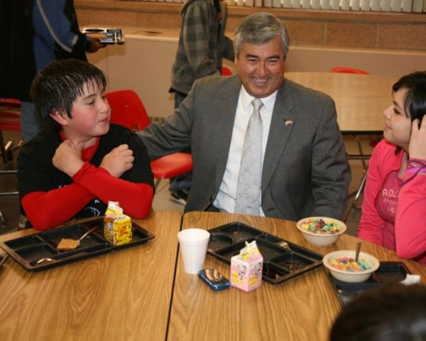 Judge Webb in the midst of his LUNCH program