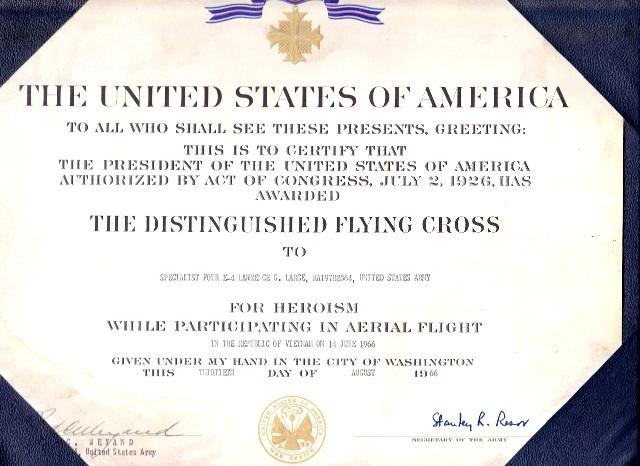 Distinguished Flying Cross Certificate