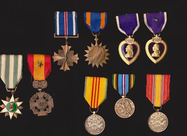 Some of Larry's medals