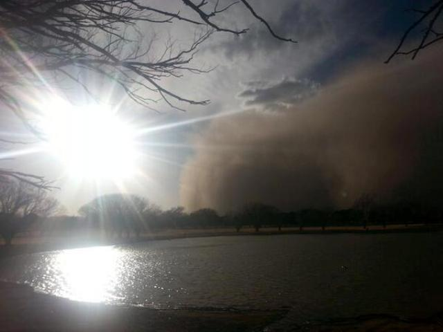 The haboob hits Clovis, N.M.