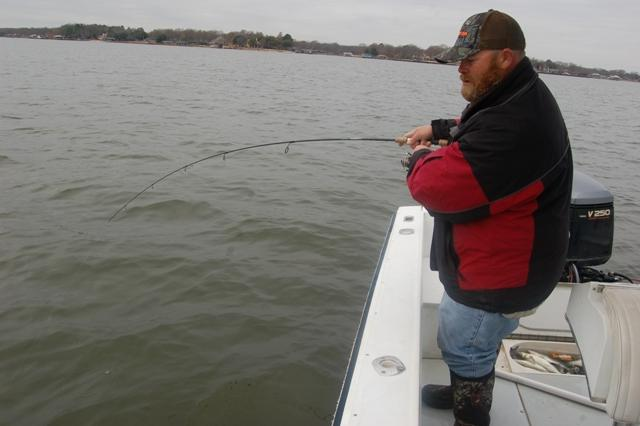 Jason fighting to bring in a big one