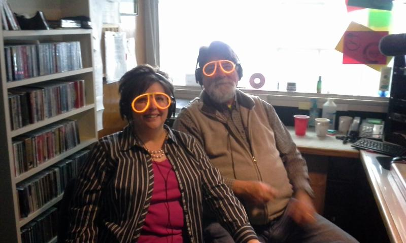 Deb and Dale put on their glasses so they can read listener comments.