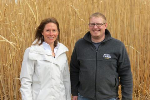 Agronomist Emily Heaton and scientist Nick Boersma are studying miscanthus. Heaton says miscanthus production could take off in the Midwest.