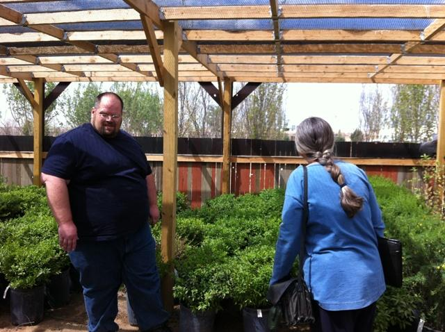 Skip and Matt in the xeric greenhouse