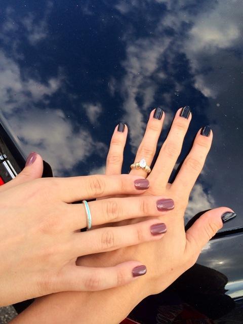 Sister hands post mani