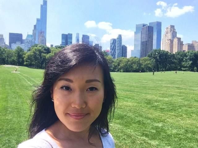 Maria's selfie; Sheep's Meadow, Central Park