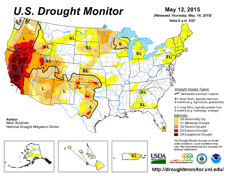 US Drought Monitor HPPR