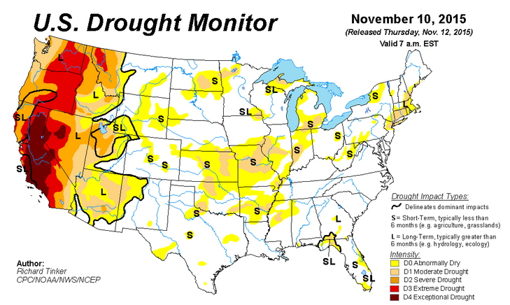 US Drought Monitor Great Plains Experiencing Relief HPPR