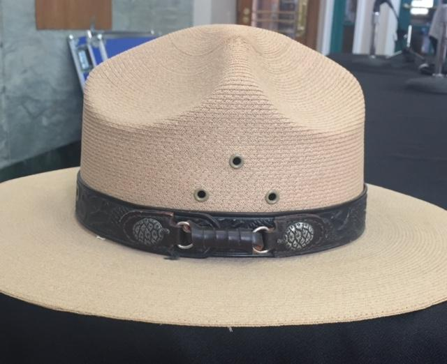 """Kathy's """"summer hat"""" that she wore in her role as a park ranger."""
