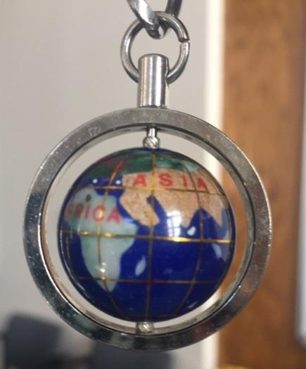 The popular gem globe was one of the prizes awarded to our radio geography bee contestants.  It was provided by Horlacher Jewelers of Colby, KS.