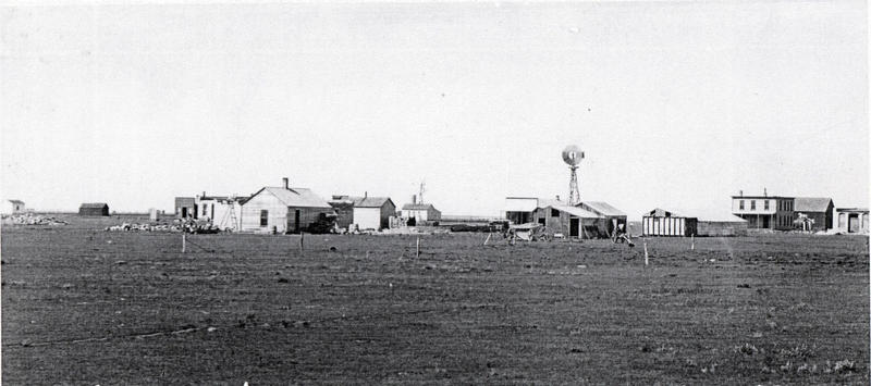 An early look at Pence, Kansas. The town was platted in October, 1886 in Scott County.