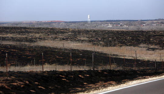 A burned landscape of land is visible for miles near Ashland as pictured on Thursday, March 9, 2017, following the March 6 wildfires in Clark County.