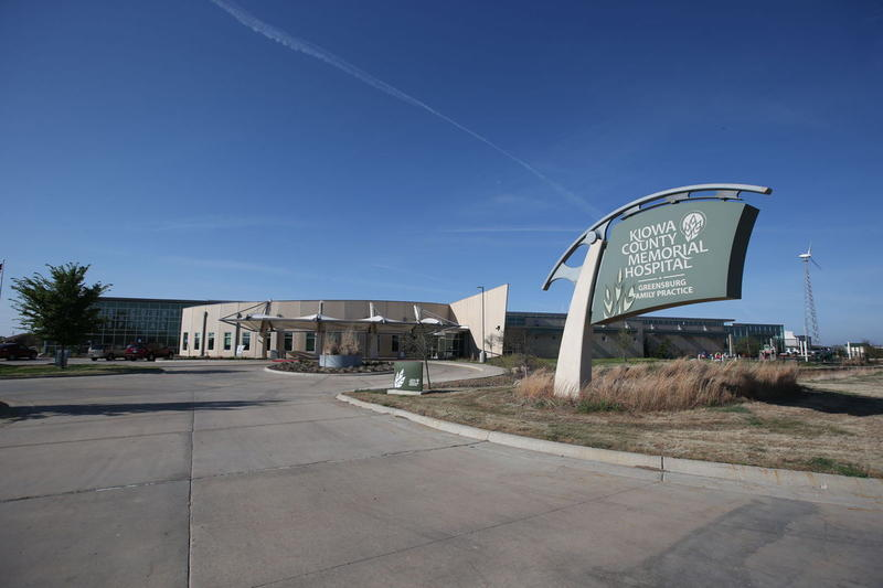 The Kiowa County Memorial Hospital in Greensburg.