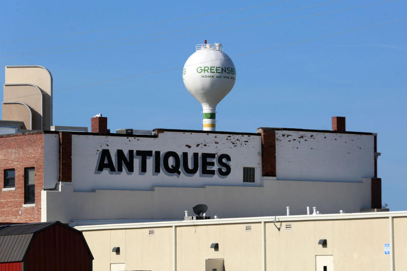 The Where'd Ya Find That antique store is visible from U.S. Highway 54 to the south as you travel through the city of Greensburg.